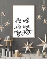 His will His way my faith 24x36 Poster lifestyle-holiday-poster-1