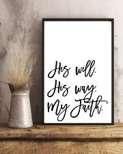 His will His way my faith 24x36 Poster lifestyle-poster-3