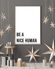 Be A Nice Human 24x36 Poster lifestyle-holiday-poster-1