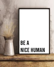 Be A Nice Human 24x36 Poster lifestyle-poster-3