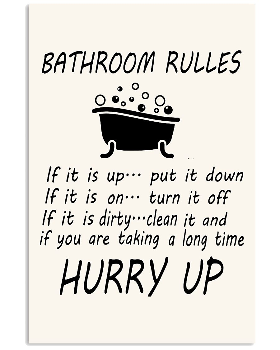 Bathroom rules 24x36 Poster
