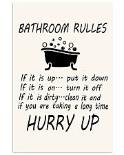Bathroom rules 24x36 Poster front