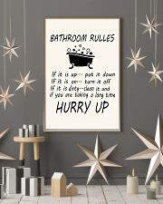 Bathroom rules 24x36 Poster lifestyle-holiday-poster-1