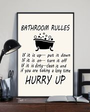 Bathroom rules 24x36 Poster lifestyle-poster-2