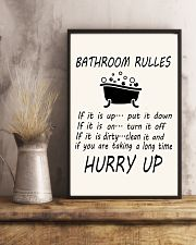 Bathroom rules 24x36 Poster lifestyle-poster-3
