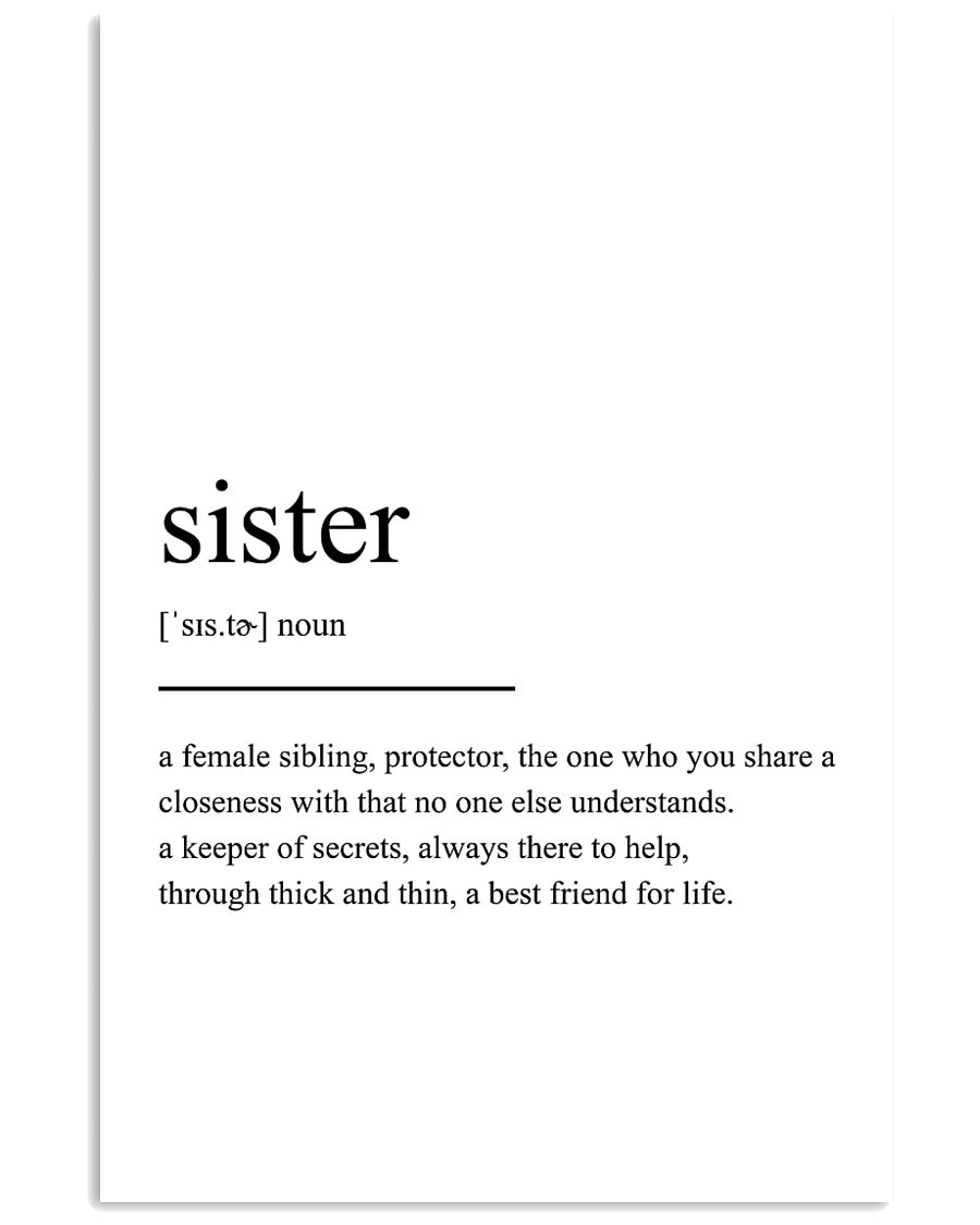 sister 24x36 Poster