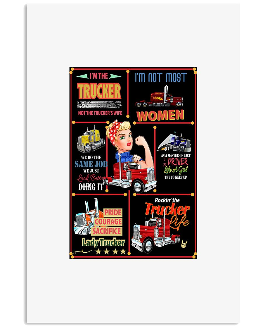 I'm The trucker 24x36 Poster