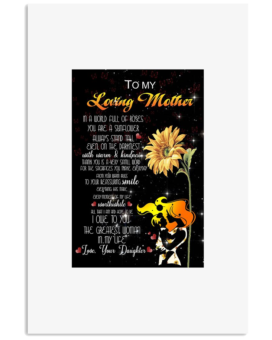 To my loving mother 24x36 Poster
