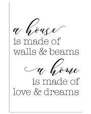 A house is made of wall 24x36 Poster front