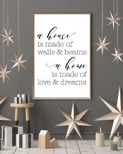 A house is made of wall 24x36 Poster lifestyle-holiday-poster-1