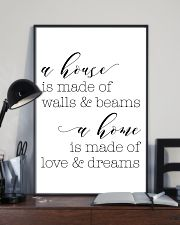 A house is made of wall 24x36 Poster lifestyle-poster-2