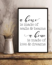 A house is made of wall 24x36 Poster lifestyle-poster-3