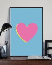 Heart pink 24x36 Poster lifestyle-poster-2