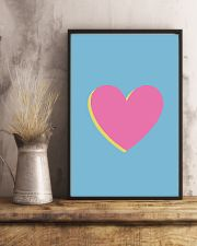 Heart pink 24x36 Poster lifestyle-poster-3