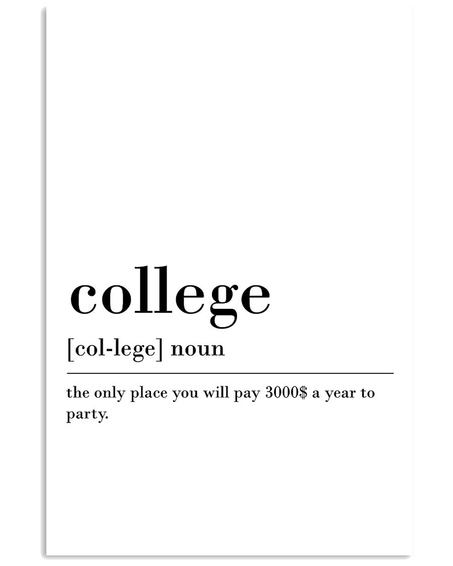 College 24x36 Poster