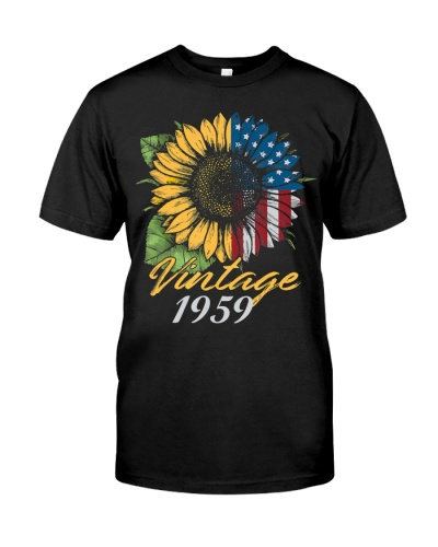 60th Birthday Sunflower Vintage 1959
