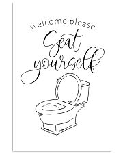 Welcome please seat yourself 24x36 Poster front