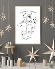 Welcome please seat yourself 24x36 Poster lifestyle-holiday-poster-1