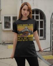 Sloth hiking team we'll get there Classic T-Shirt apparel-classic-tshirt-lifestyle-19