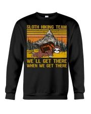 Sloth hiking team we'll get there Crewneck Sweatshirt thumbnail
