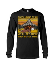Sloth hiking team we'll get there Long Sleeve Tee thumbnail