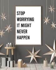 Stop worrying it might never happen 24x36 Poster lifestyle-holiday-poster-1