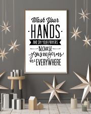 wash your hands and say your prayeas because jesus 24x36 Poster lifestyle-holiday-poster-1