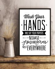wash your hands and say your prayeas because jesus 24x36 Poster lifestyle-poster-3