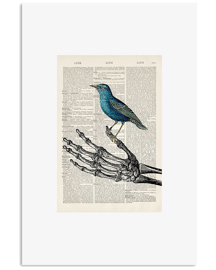 Skeleton and Blue Bird 24x36 Poster