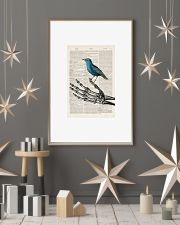 Skeleton and Blue Bird 24x36 Poster lifestyle-holiday-poster-1