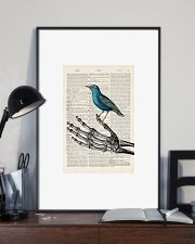 Skeleton and Blue Bird 24x36 Poster lifestyle-poster-2