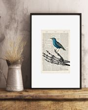 Skeleton and Blue Bird 24x36 Poster lifestyle-poster-3