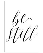 Be still 24x36 Poster front