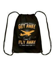 I want to get away i want to fly away  Drawstring Bag thumbnail