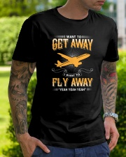 I want to get away i want to fly away  Classic T-Shirt lifestyle-mens-crewneck-front-7