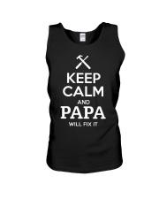 keep calm and PAPA will fix it Unisex Tank thumbnail