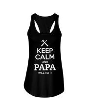 keep calm and PAPA will fix it Ladies Flowy Tank thumbnail