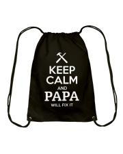 keep calm and PAPA will fix it Drawstring Bag thumbnail