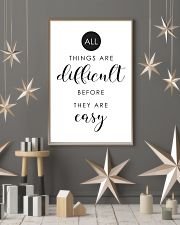 all things are difficult before they are casy 24x36 Poster lifestyle-holiday-poster-1
