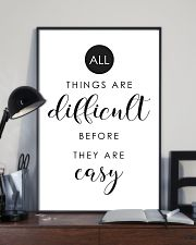 all things are difficult before they are casy 24x36 Poster lifestyle-poster-2