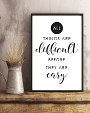 all things are difficult before they are casy 24x36 Poster lifestyle-poster-3