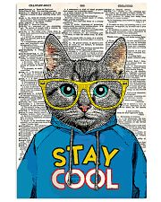 Staycool cat 24x36 Poster front