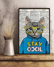 Staycool cat 24x36 Poster lifestyle-poster-3