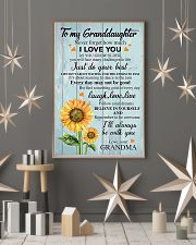 To my Granddaughter 16x24 Poster lifestyle-holiday-poster-1