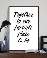 Together is our favorite place to be 24x36 Poster lifestyle-poster-2