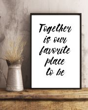 Together is our favorite place to be 24x36 Poster lifestyle-poster-3