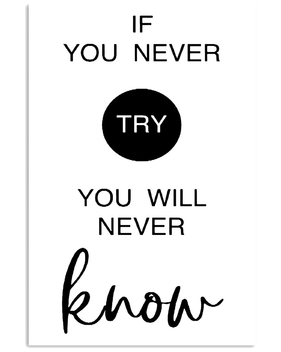 if you never try you will never know 24x36 Poster