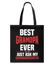 BEST GRANDPA Tote Bag thumbnail