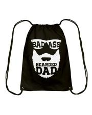 Badass beared dad Drawstring Bag thumbnail