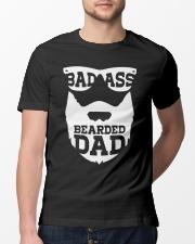 Badass beared dad Classic T-Shirt lifestyle-mens-crewneck-front-13